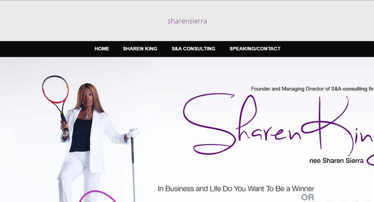 Your Home Page: of the Website of Sharen King. Web Design by The EntreMarketing Group.