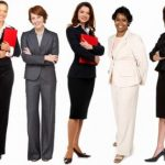 Working Women in Professional Attire