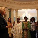 Melanne Verveer of the Ambassador-at-Large for Global Women's Issues speaks with members of an African Women's Entrepreneurship Program in Washington, DC in 2012.