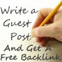 Build Inbound Links: Write a guest post, and get a free backlink.