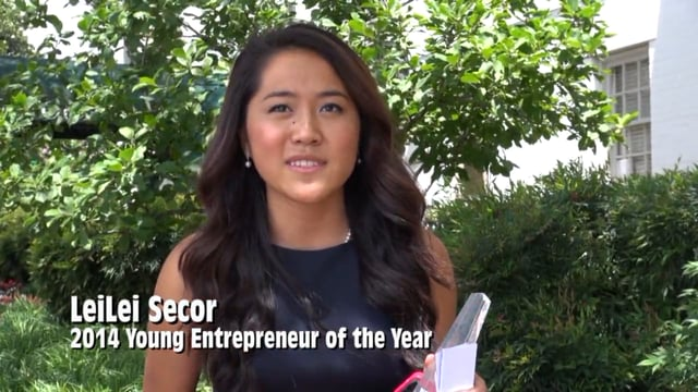 """Etsy Store Owner LeiLei Secor was named """"2014 Young Entrepreneur of the Year"""" for her success as a businesswoman."""