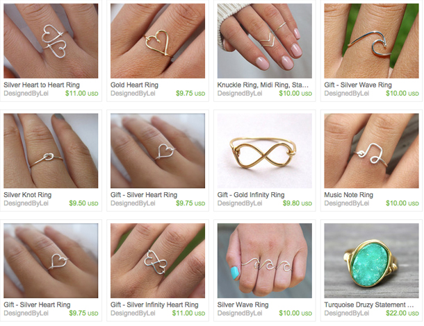 Webpages from LeiLei Secor's Etsy Store